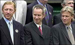 Becker, McEnroe e Borg
