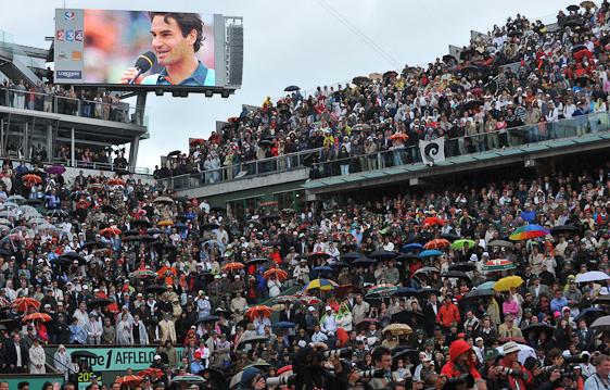 A Quadra Central tem seu novo campeão Rooger Federer