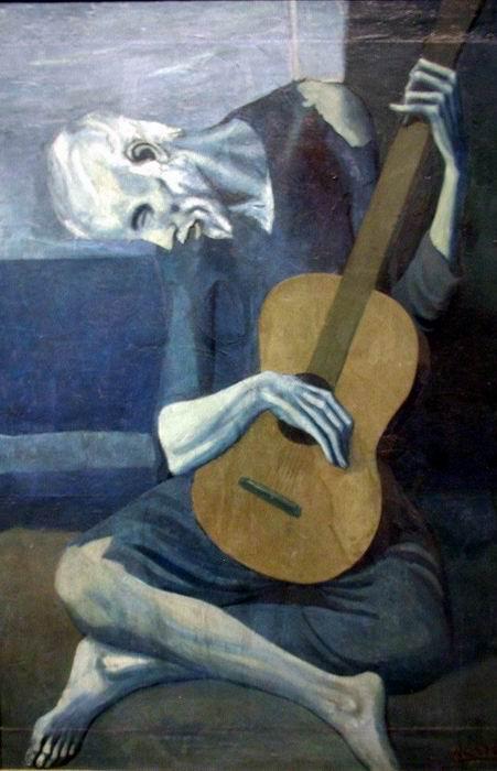 Meu quadro favorito da fase - O Velho Guitarrista (1902)
