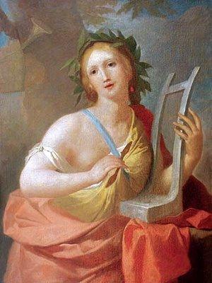 Musa da música Calliope afrescado por Bacciarelli