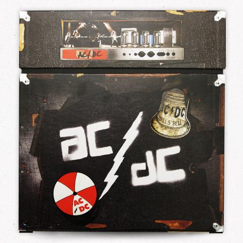 Grafite original da banda na parte traseira da caixa