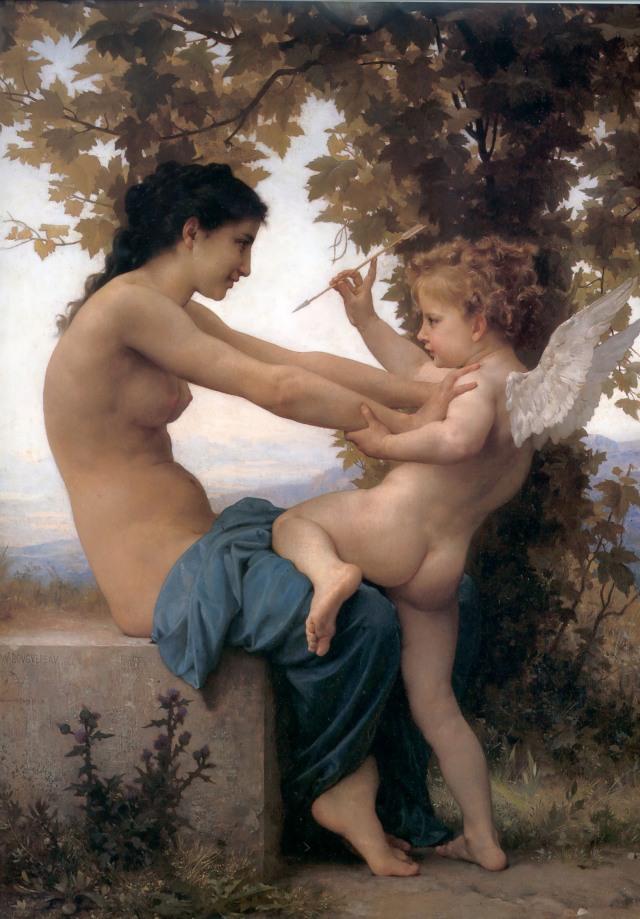 Bouguereau -  A Jovem se Defendendo de Eros [1905]