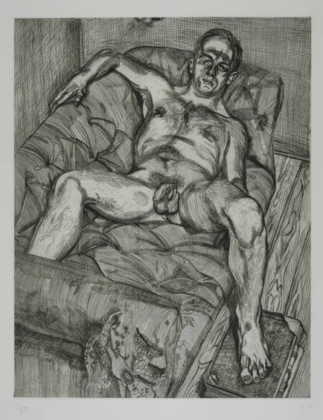 Man Posing 1985 by Lucian Freud 1922-2011