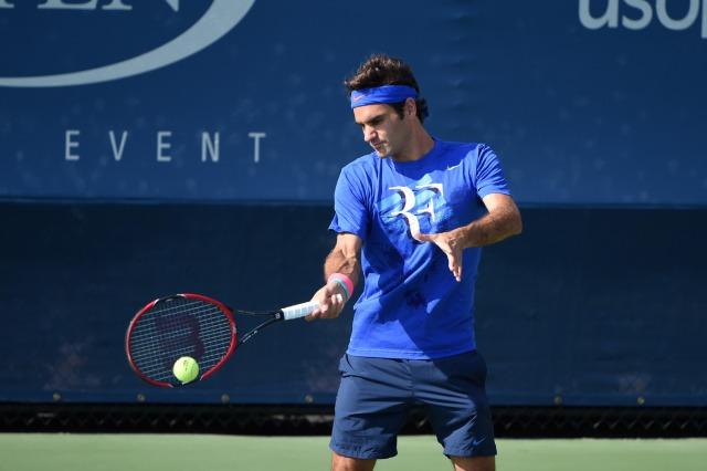 Federer se preparando