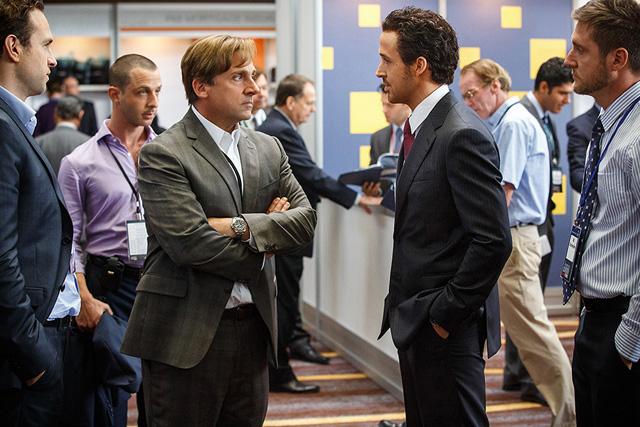 O pilhado Steven Carrel contra Ryan Gosling interpretando um Palmito
